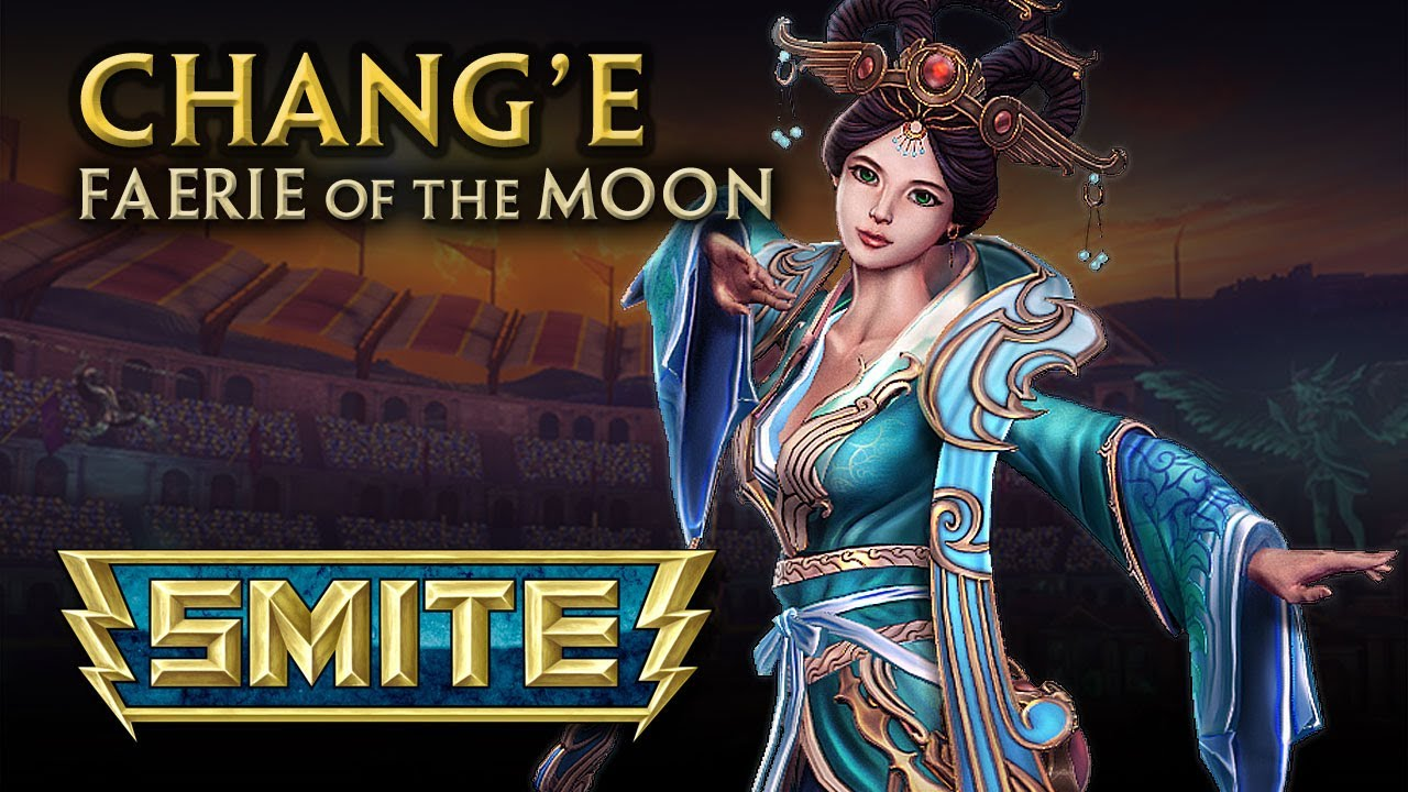 smite god reveal   chang e faerie of the moon   youtube