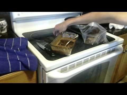Wheelchair style  - Removing Protein Bars from OVEN SAFE glass bowl after cook - L1 injury 11-2-15