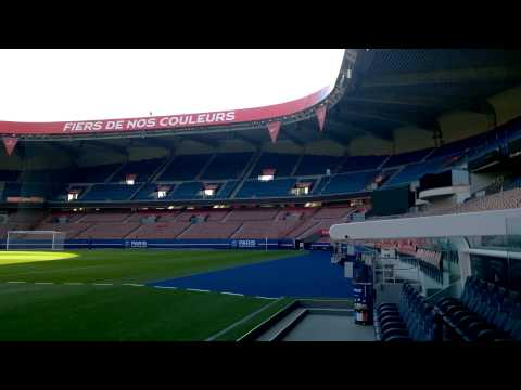 Parc De Princes 4K PSG Stadium Ground Empty View