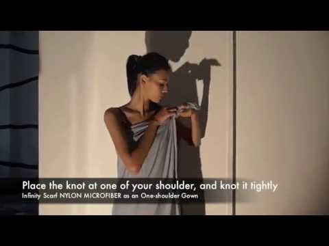 Infinity Scarf - Ways to wear #03 - One Shoulder Gown