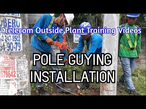 Telecom Pole Guying Installation - Sidewalk Guy