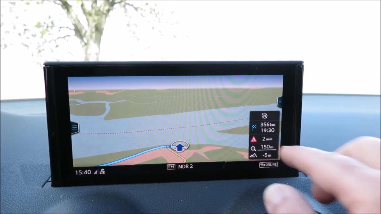 Audi Q2 Mmi Navigation Plus Mit Mmi Touch 2017 Bedienung Youtube