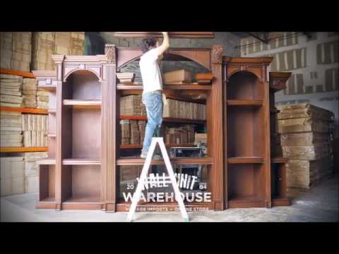 wall unit warehouse™ (large) entertainment center furniture - wood