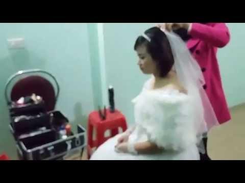 Quay nén phòng thay đồ đám cưới chị Nhung Giang