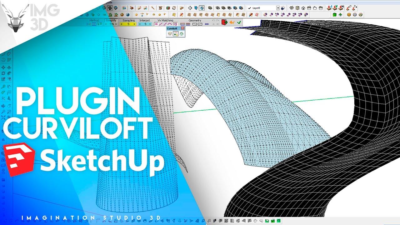 Descarga plugin Curviloft para Sketchup - EXPLICADO FACIL