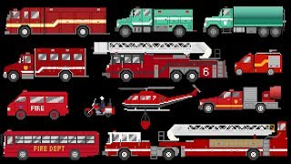 Fire Vehicles 2 - Emergency Trucks & Apparatus - The Kids' Picture Show