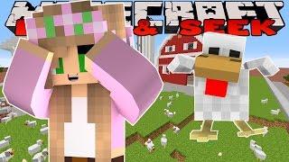 Minecraft Modded MiniGames : Little Kelly - CHICKEN HIDE AND SEEK!