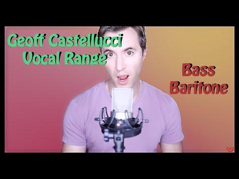 Geoff Castellucci | Vocal Range | C♯1 - A5 | HD
