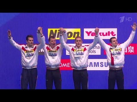 Сразу три золотые медали плюс мировой рекорд у российских пловцов на Чемпионате мира в Южной Корее.