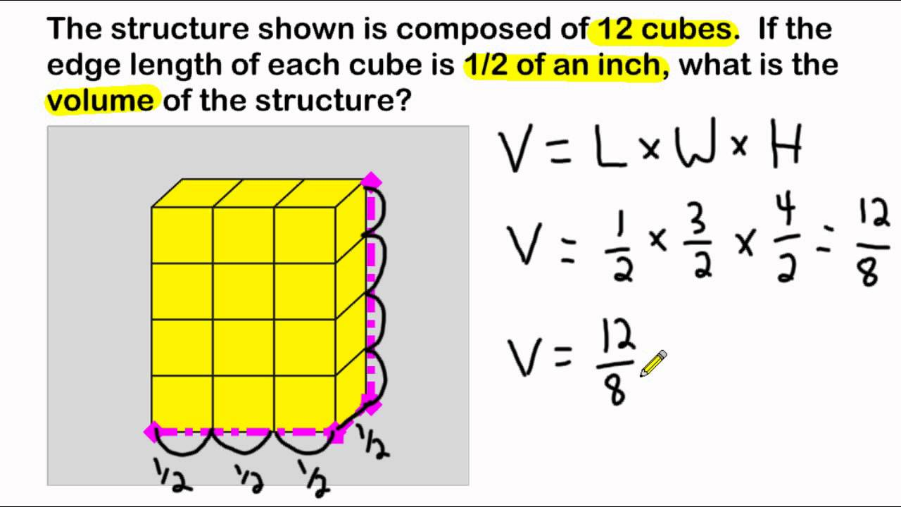 Volume Of A Rectangular Prism Composed Of Cubes With ...