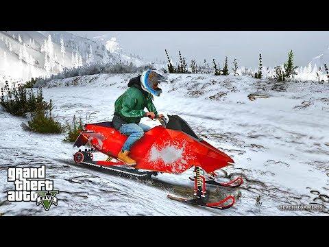 GTA 5 REAL LIFE MOD #302 (GTA 5 REAL LIFE MODS) SNOWMOBILE
