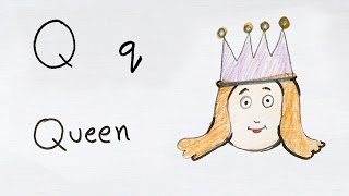Q for Queen | How to draw using Alphabets | Fun with Alphabets | Drawing for kids