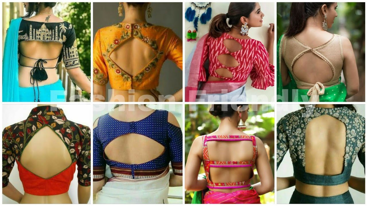 Stylish Blouse Back Neck Designs Latest Blouse Designs 2019 Blouse Designs Fashion Friendly Youtube