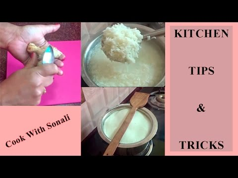 Kitchen Tips and Tricks | Faster way to Peel Ginger | prevent milk from boiling over