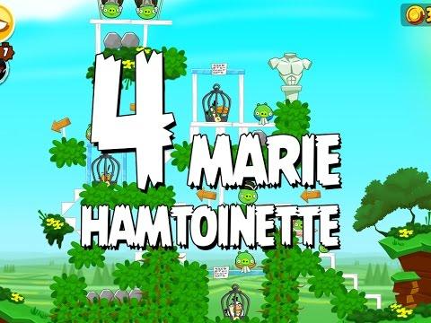 Angry Birds Seasons Marie Hamtoinette  1-4 Walkthrough 3 Star
