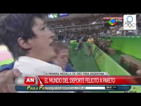 Messi felicitó a Pareto