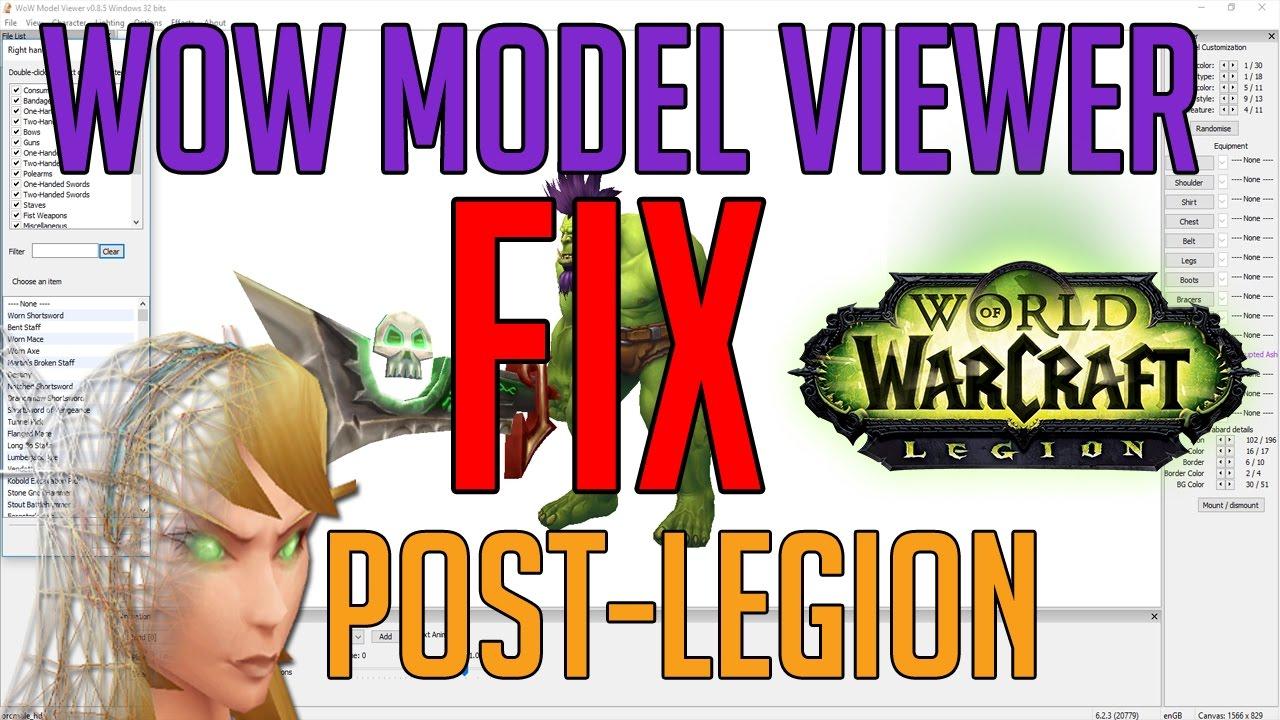 WoW Model Viewer FIX! Post-Legion & WoD Language Fix 2016