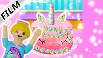Playmobil Film deutsch | EINHORN Kuchen selber machen mit Hannah Vogel | Unicorn Rainbow Cake App