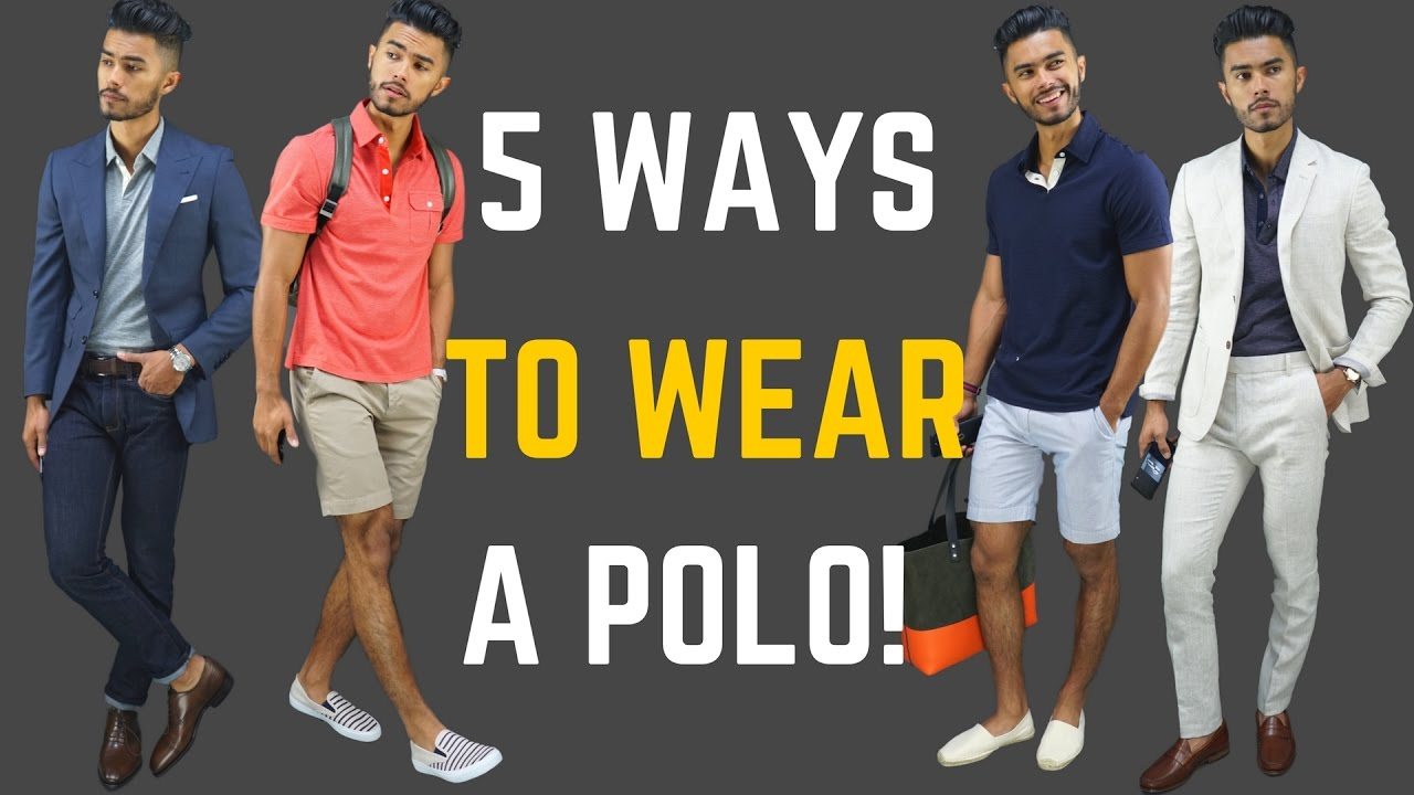 470270dc158 How to Wear a Polo Shirt 5 Ways - YouTube