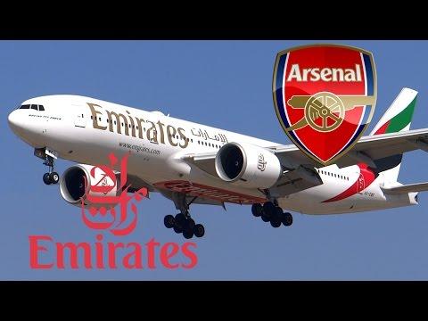 """HD RARE Emirates Boeing 777-21H/LR A6-EWF """"Arsenal"""" Landing at San Jose International Airport"""