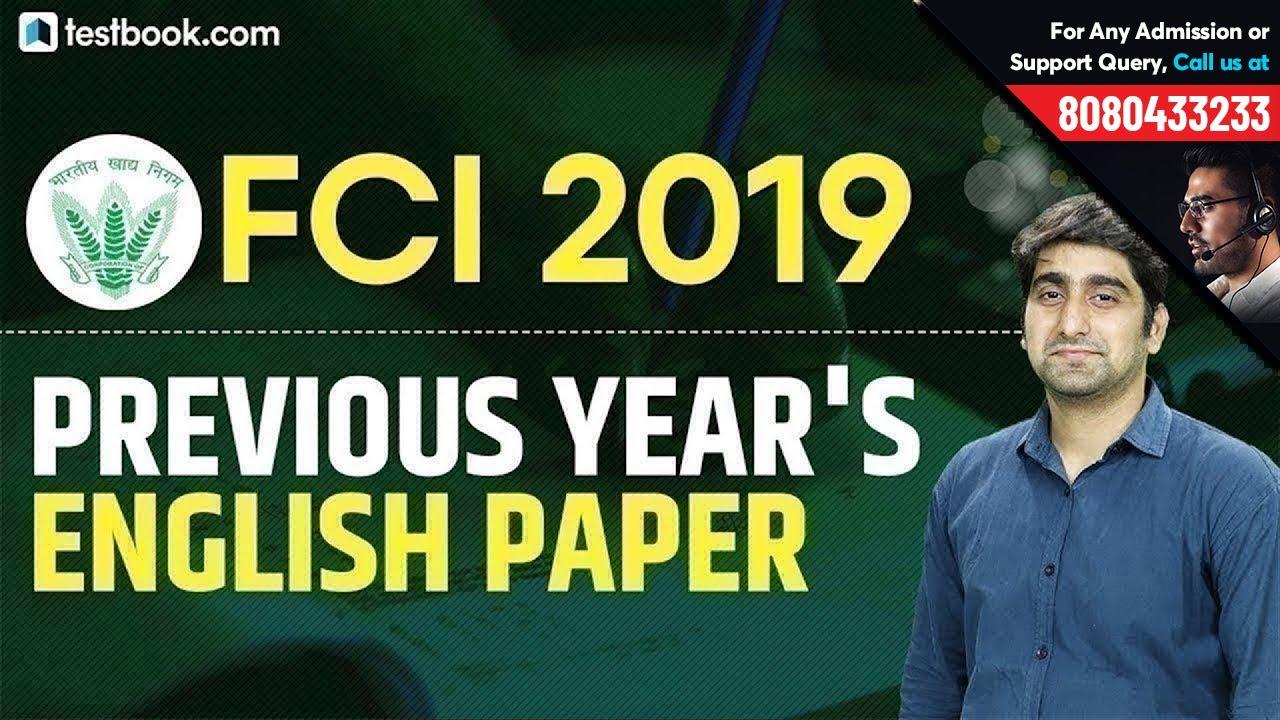 FCI Recruitment 2019 | Previous Year's English Question Paper | Learn  English Grammar | Nitin Sir