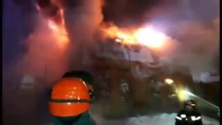 Пожар на Ткацкой улице в Москве (Семеновская) / Fire in Moscow Semenovskaya
