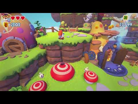 Boss Fight and Scrambled Eggs 100% Super Lucky's Tale Gameplay