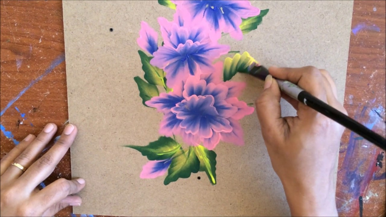 Blue And Pink Flower Cluster Youtube