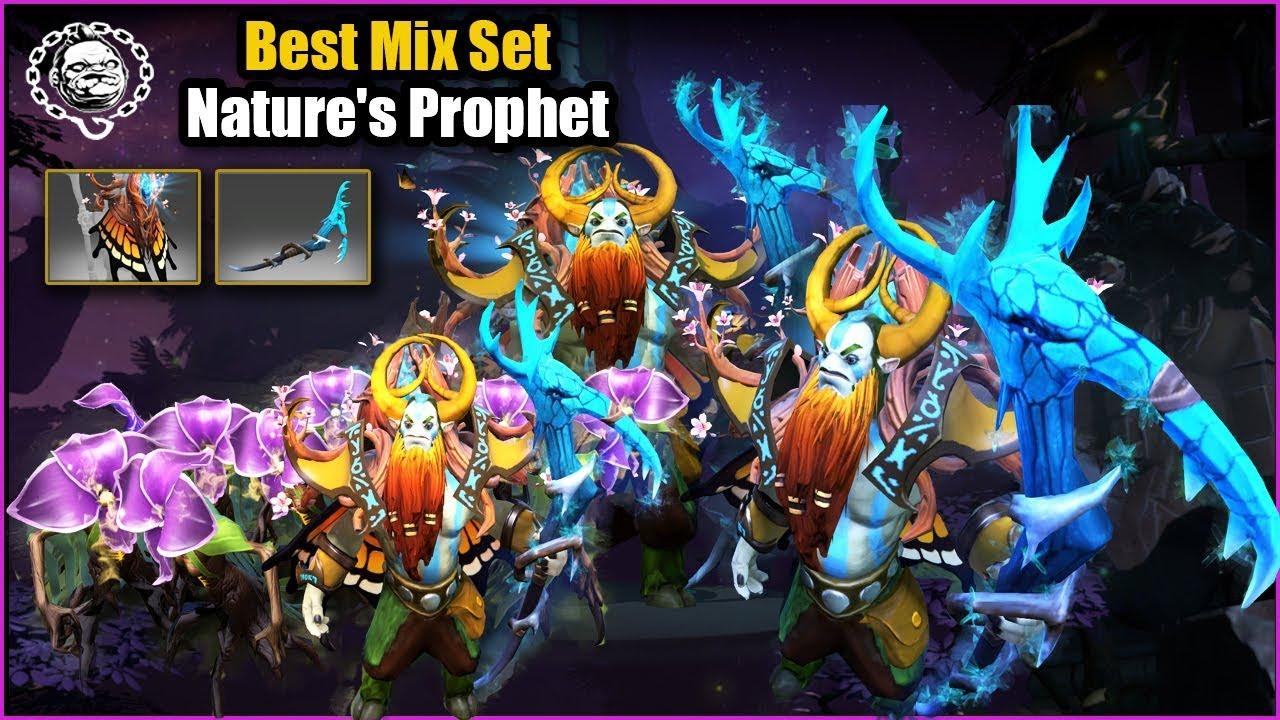 Dota 2 Nature's Prophet Best Mix Set Monarch of the Sapphire Glen + Scythe of Ice