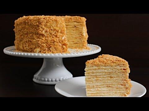 Napoleon Cake Recipe | Russian Torte Napoleon