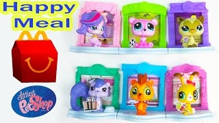 LPS Bobblehead McDonalds Happy Meal Toys 2015 Littlest Pet Shop Show Toys Video Unboxing