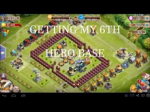 Castle Clash:  Getting My 6th Hero Base!!!!!
