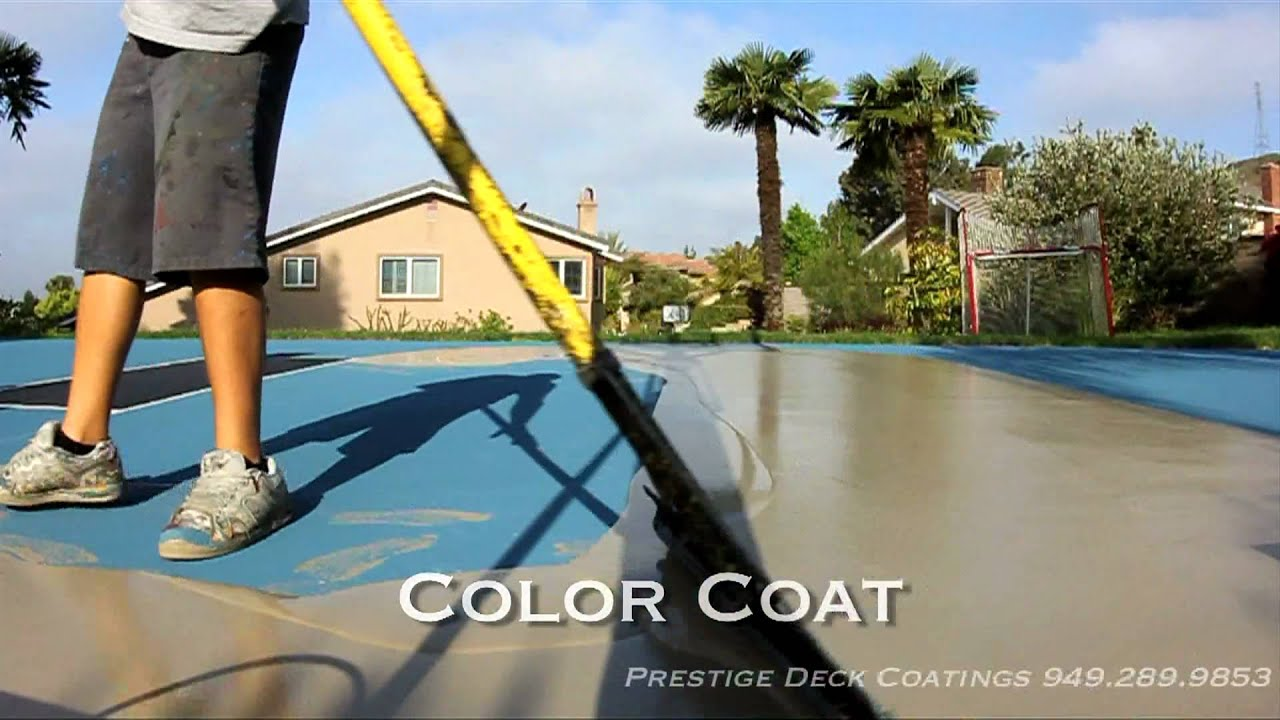 Prestige decking coating and waterproofing basketball for Sport court paint