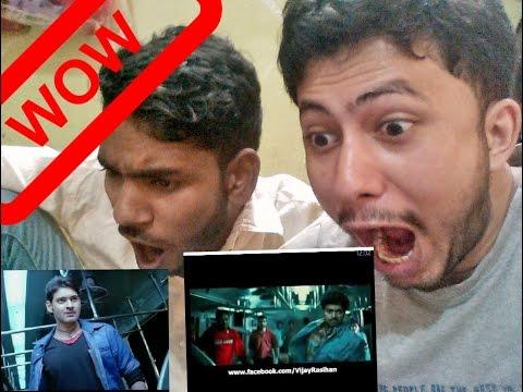 VIJAY VS MAHESH BABU || POKIRI Train Fight Scene || Reaction & Discuss || BY leJB..