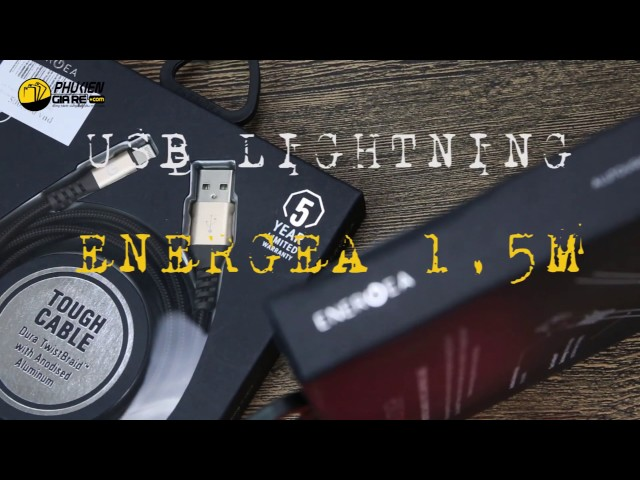 Cáp Lightning Energea Alutough Charge and Sync 1.5M