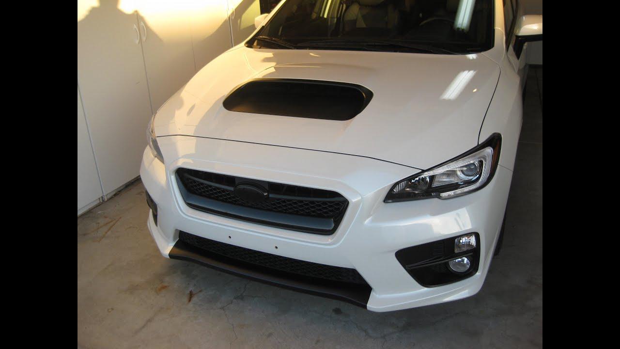 2015 Subaru WRX Ep. 272: Hood Scoop Plasti-Dip Project ...