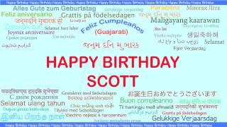 Scott   Languages Idiomas - Happy Birthday