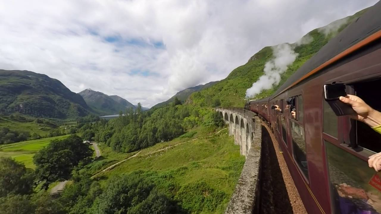 Jacobite Train Glenfinnan Viaduct Aka Harry Potter Train Fort William To Mallaig Hogwarts Hd Gopro