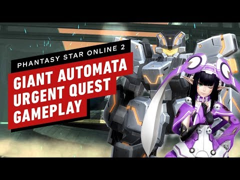 Phantasy Star Online 2: 'Giant Automata' Urgent Quest Gameplay