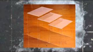 High Quality Acrylic Nesting Tables Clear 3 Pieces Set