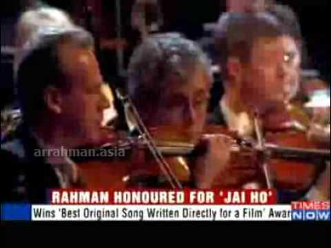 A R Rahman honoured for Jai Ho - World Soundtrack Award