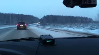 ЛАДА ВЕСТА  на зимней дороге Екатеринбург