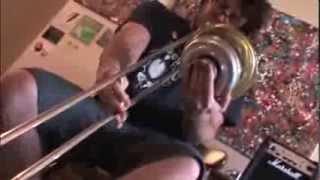 A.J. Herring at Apartment Music #21 trombone experimental improvisation