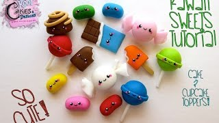 How To Make Kawaii Sweets Cake & Cupcake Toppers: Dessert Network Collaboration