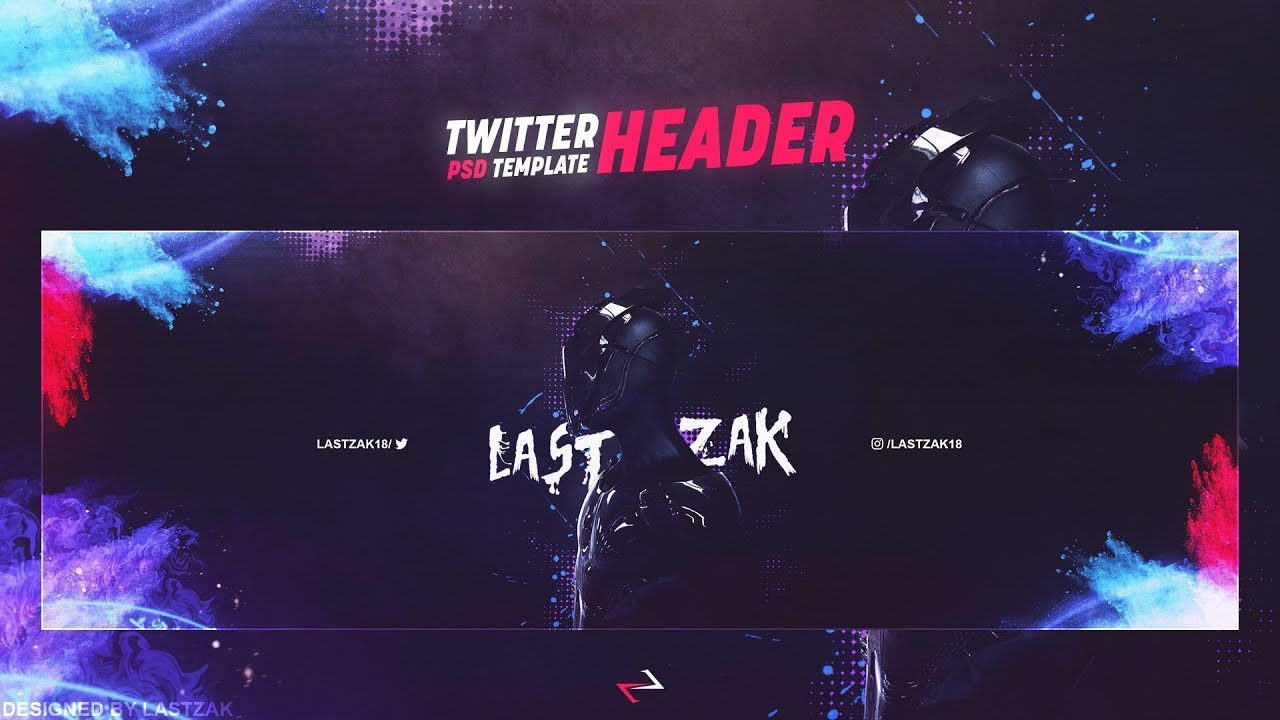 Free Gfx Gaming Twitter Header Psd Template 2017 By Lastzak