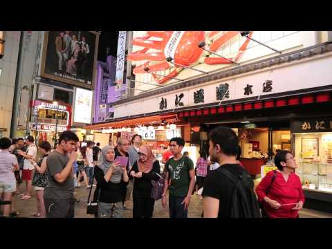 Osaka - Walking Tour of Namba & Dotonbori Area