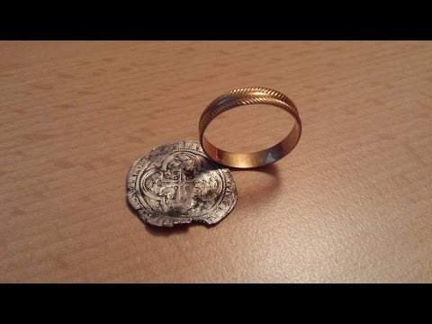 XP Deus find Gold ring and silver coin 1395 Alps panorama