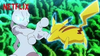Фото Ash \u0026 Goh Battle Mewtwo Pokémon Journeys The Series Netflix Futures