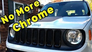 Blacking out My Jeep Renegade Grill Trim Rings