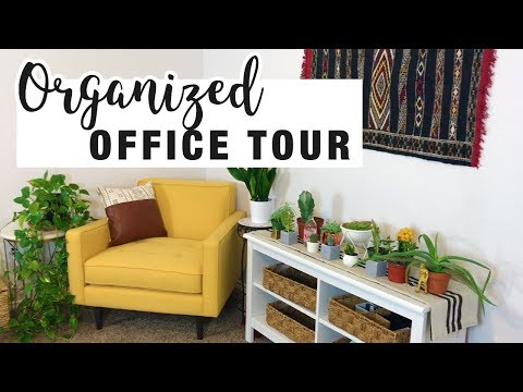 ORGANIZED OFFICE TOUR | Home Office Decor + Organizing Tips